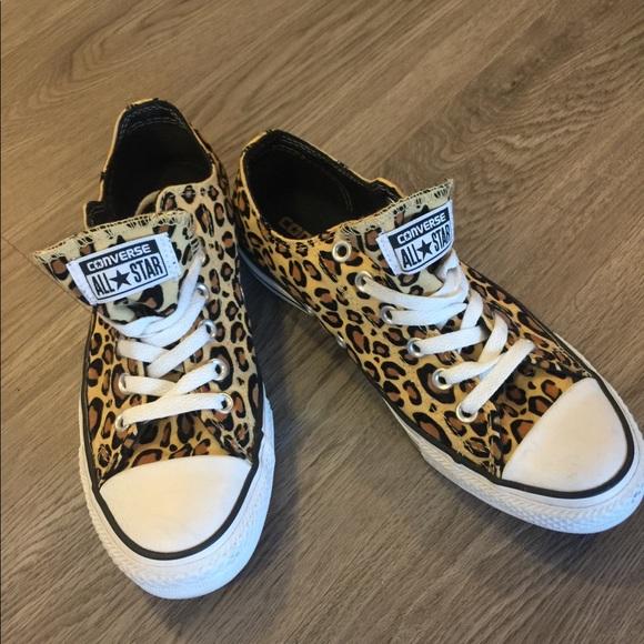 9744f4933332a8 Converse Shoes - Cheetah Print All-Star Converse